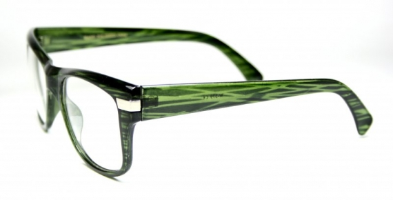Clear Lens Shock Green Striped