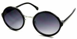 Metal Aviator Rund Black/Silver