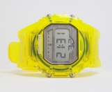 Sport Watch Transparent Yellow