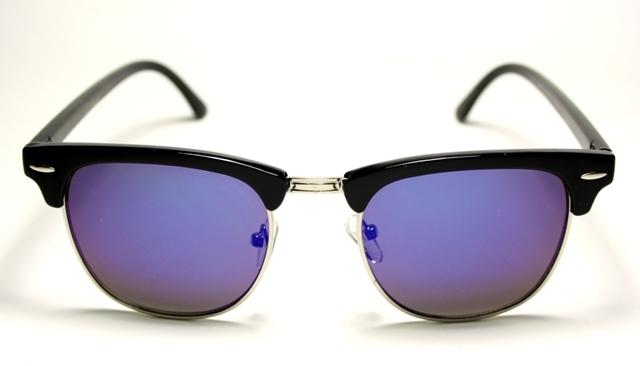 Solglasögon Clubmaster Svart Oljeblå 18e3370fcb481