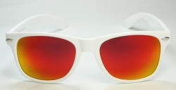 Wayfarer Revo White/Red Oily