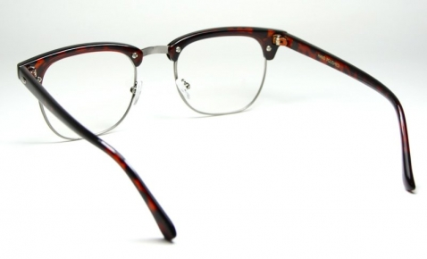 Vintage Clubmaster Clear Lens Tortoise