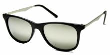 Solglas�gon Retro Barry Black/Silver Mirror
