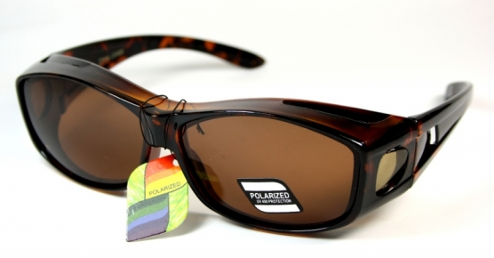 Polariserande Fit-over Shades Brown/Tortoise