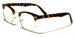 Clubmaster Clear Lens Square Tortoise