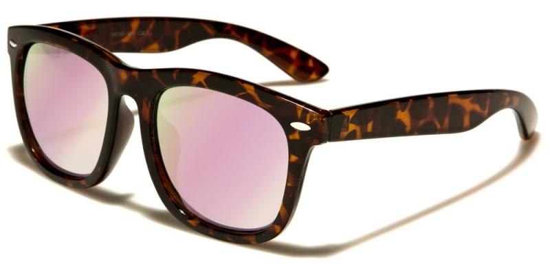Solglasögon oversized wayfarer rosa oljeglas 64ba1b88241a7