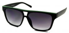 Aviators Black Line Green