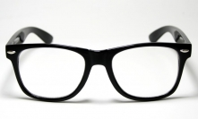 Wayfarer Clear Lens Black