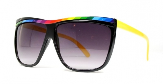 Oversized Rainbow Black/Yellow