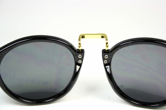 Vintage aviator Round Black/Gold
