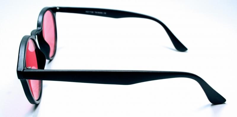 Solglasögon Retro Harry Svart Rosa Ton d44a28150696a
