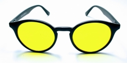 Solglasögon Retro Harry Svart Gul Ton ad5ebb7be4dac