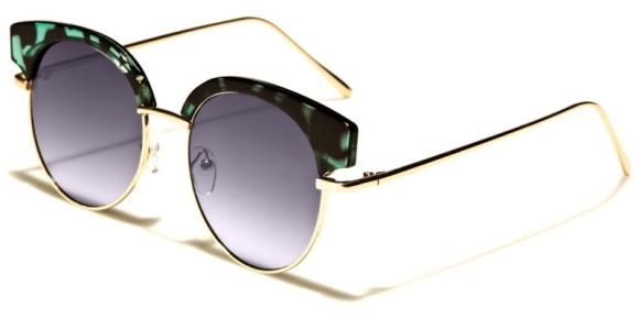 Solglasögon Rund Flat Eye Grön d30d994c7d385