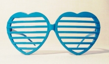 Shutter Shades Heart Blue