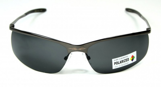 Metal Pilot Polarized Spot Grey