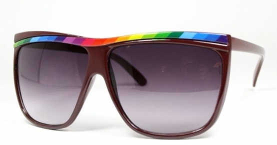 Oversized Rainbow Brown