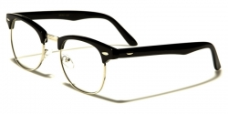 Clear Lens Clubmaster Square Black