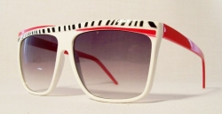 Asymmetric Zebra White/Red