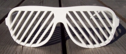 Shutter Shades Sloping White